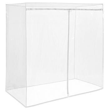 """Mobile Shelving Cover - 72 x 36 x 72"""", Clear H-9223C"""
