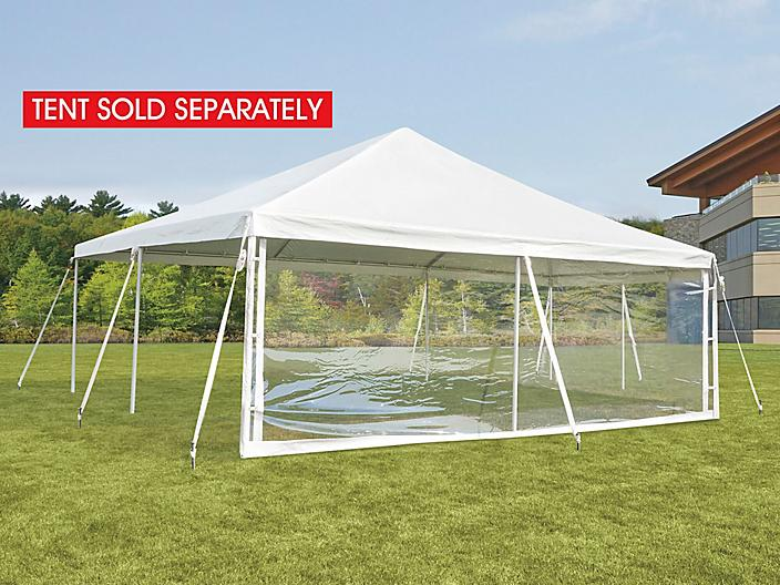 Side Wall for Event Tent - 20', Clear H-9239