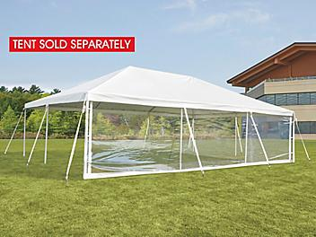Side Wall for Event Tent - 30', Clear H-9242