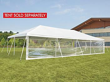 Side Wall for Event Tent - 40', Clear H-9245