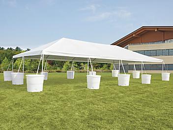 Event Tent with Barrels - 20 x 40' H-9248