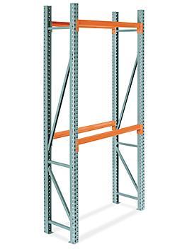 "2 Shelf Pallet Rack Starter Unit - 48 x 24 x 120"" H-9249"