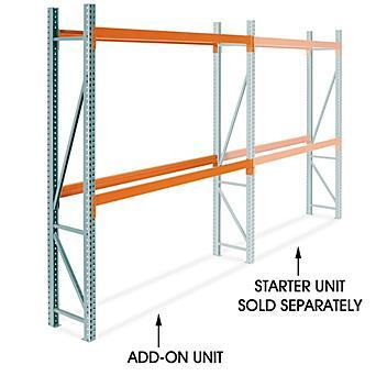 "Add-On Unit for 2 Shelf Pallet Rack - 96 x 24 x 120"" H-9250-ADD"