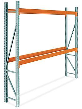 "2 Shelf Pallet Rack Starter Unit - 120 x 24 x 120"" H-9252"