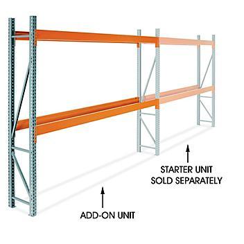 "Add-On Unit for 2 Shelf Pallet Rack - 144 x 24 x 120"" H-9253-ADD"
