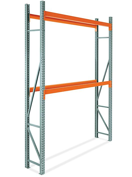 "2 Shelf Pallet Rack Starter Unit - 96 x 24 x 144"" H-9255"