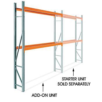 "Add-On Unit for 2 Shelf Pallet Rack - 108 x 24 x 144"" H-9256-ADD"