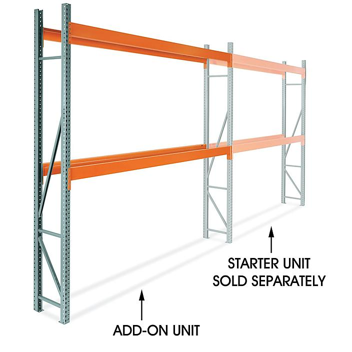 "Add-On Unit for 2 Shelf Pallet Rack - 144 x 24 x 144"" H-9258-ADD"