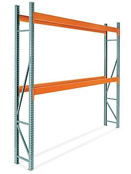"2 Shelf Pallet Rack Starter Unit - 144 x 24 x 144"" H-9258"