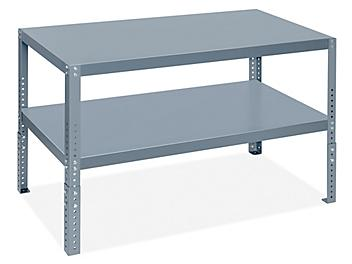 """Adjustable Height Machine Table - 48 x 24 x 30-37"""" H-9268"""