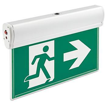 Edge-Lit Acrylic Exit Sign - Running Man, Green H-9282