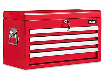 Uline Top Chest - 4 Drawer, Red H-9291R
