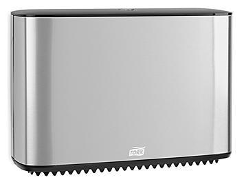 Tork® Mini Jumbo Bath Tissue Dispenser - Stainless Steel, Single Roll H-9344