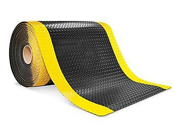 "Diamond Plate Mat - 9/16"" thick, 3 x 75', Black/Yellow H-9414"