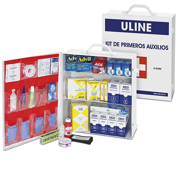 Uline First Aid Kit - Mexico, 100 Person H-9590