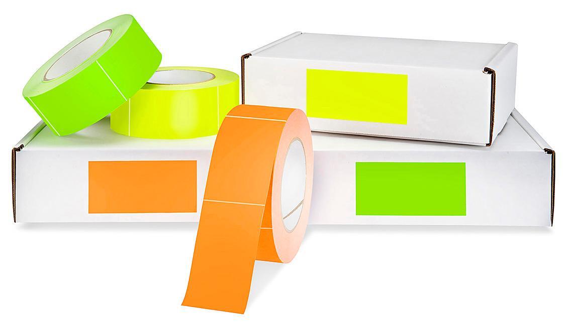 Etiquetas Adhesivas Rectangulares en Blanco para Inventario