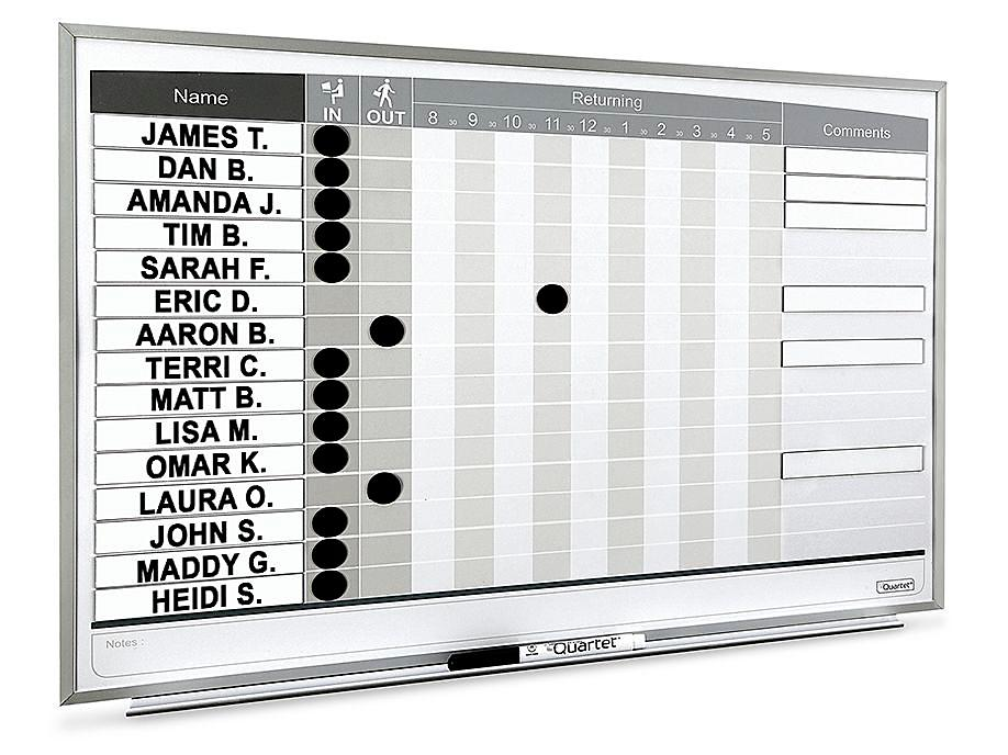 In/Out Staff Dry Erase Boards