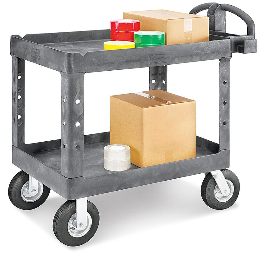 Rubbermaid<sup>&reg;</sup> Utility Carts with Pneumatic Wheels