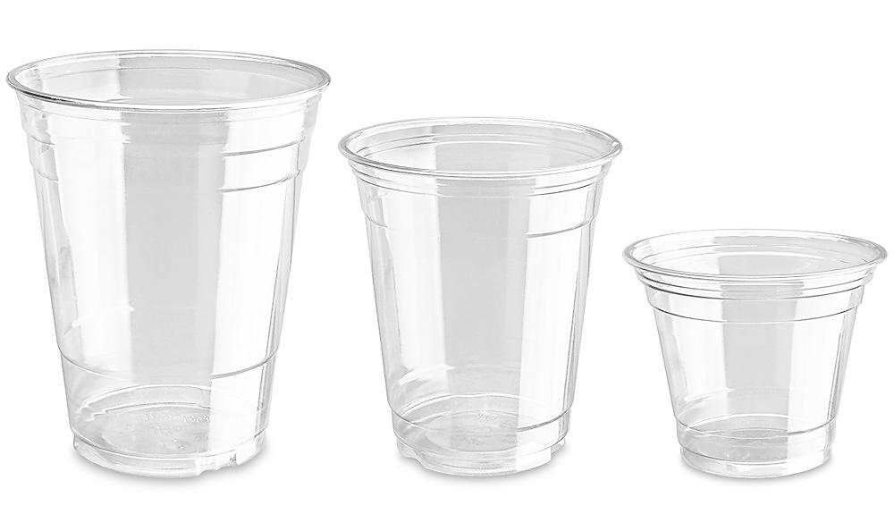 Uline Crystal Clear Plastic Cups