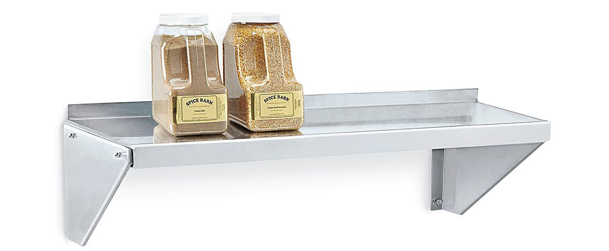 Stainless Wall-Mount Shelving