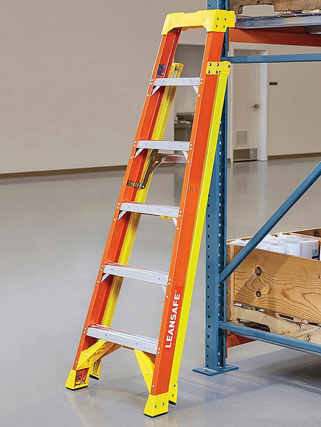 LeanSafe<sup>&trade;</sup> Fiberglass Step Ladders