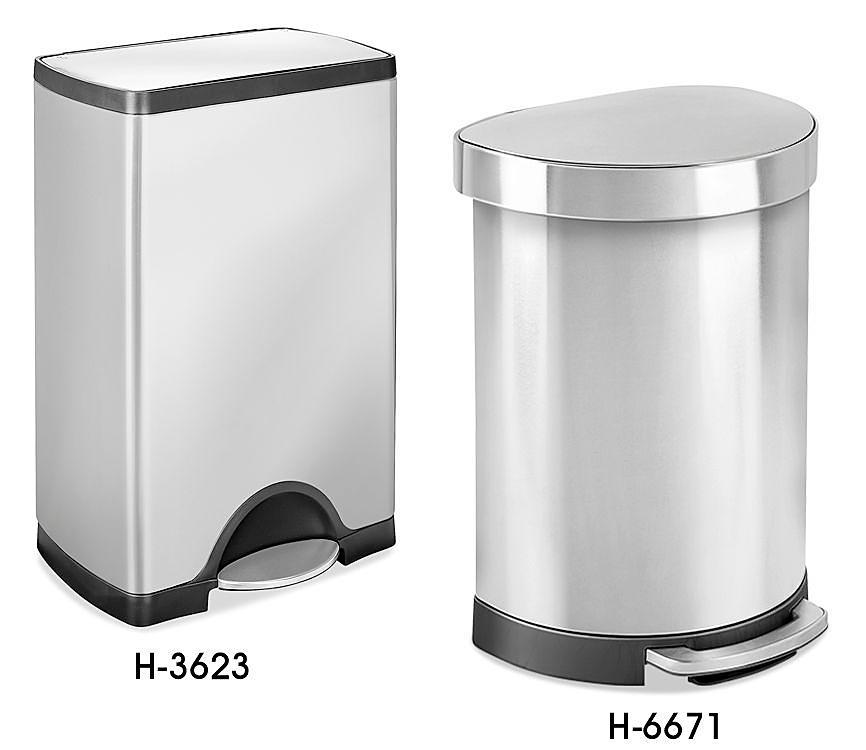 Step-On Stainless Steel Trash Cans