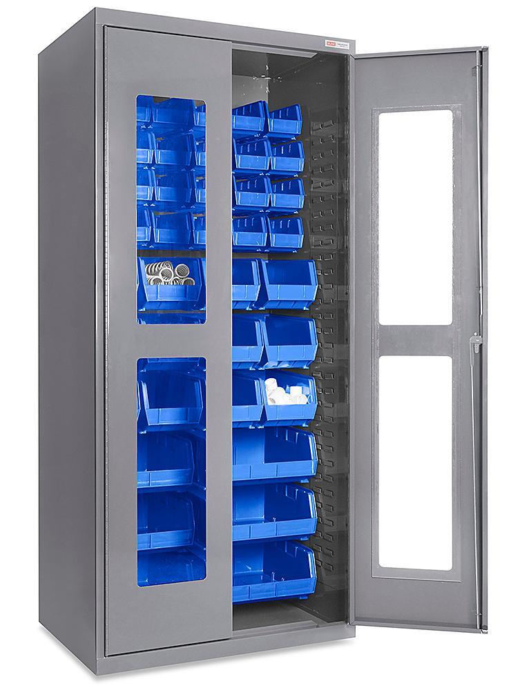 Clear-View Bin Storage Cabinets