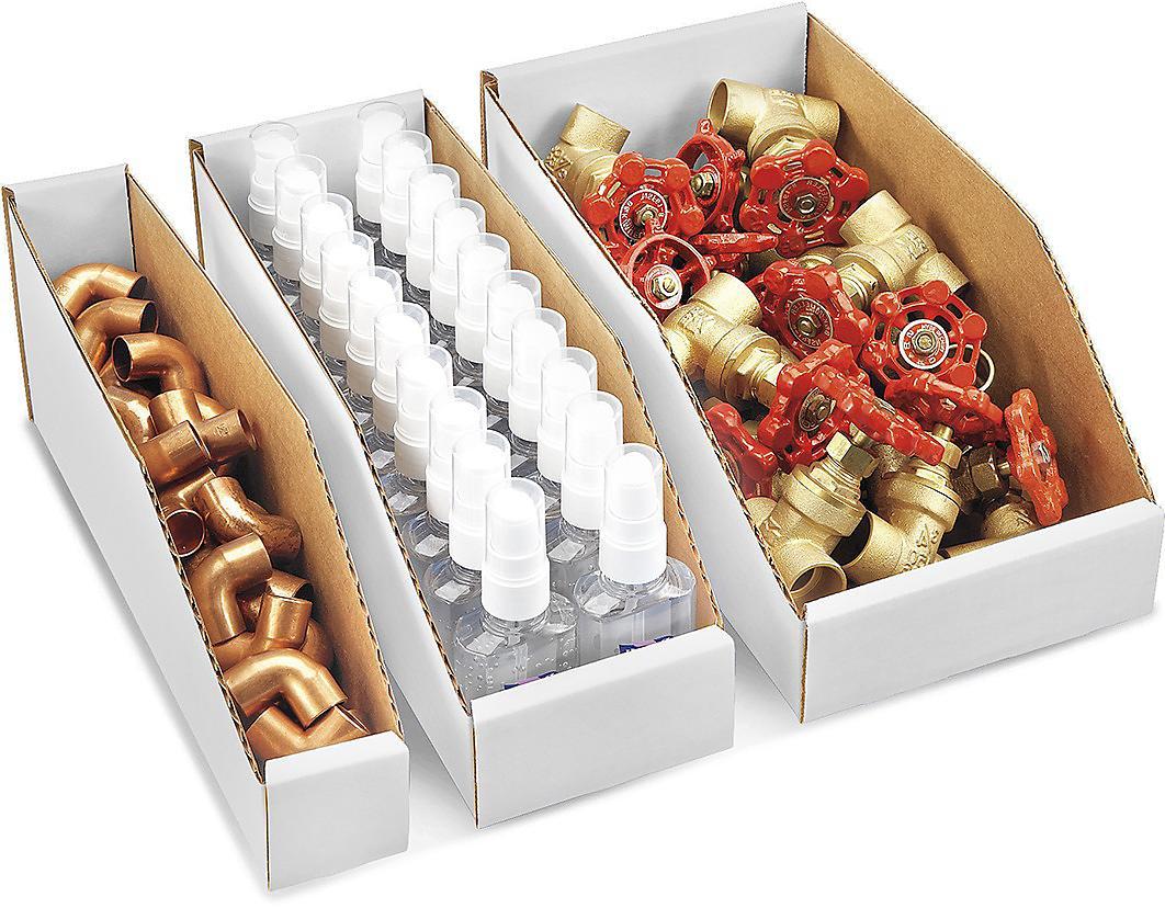 White Corrugated Bins