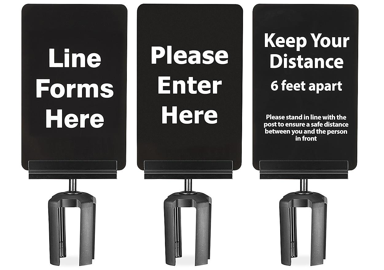 Crowd Control Signs