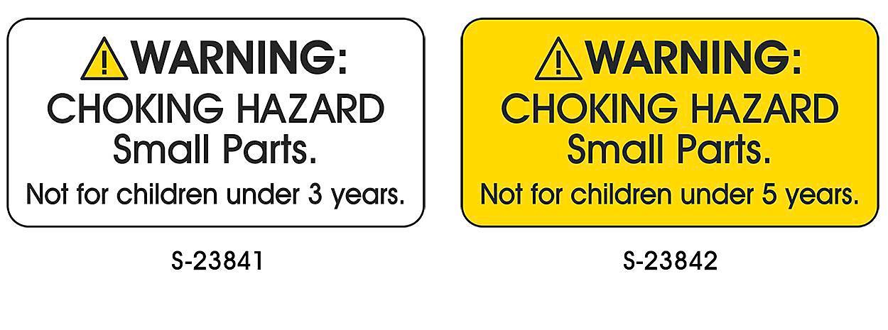 Choking Hazard Labels