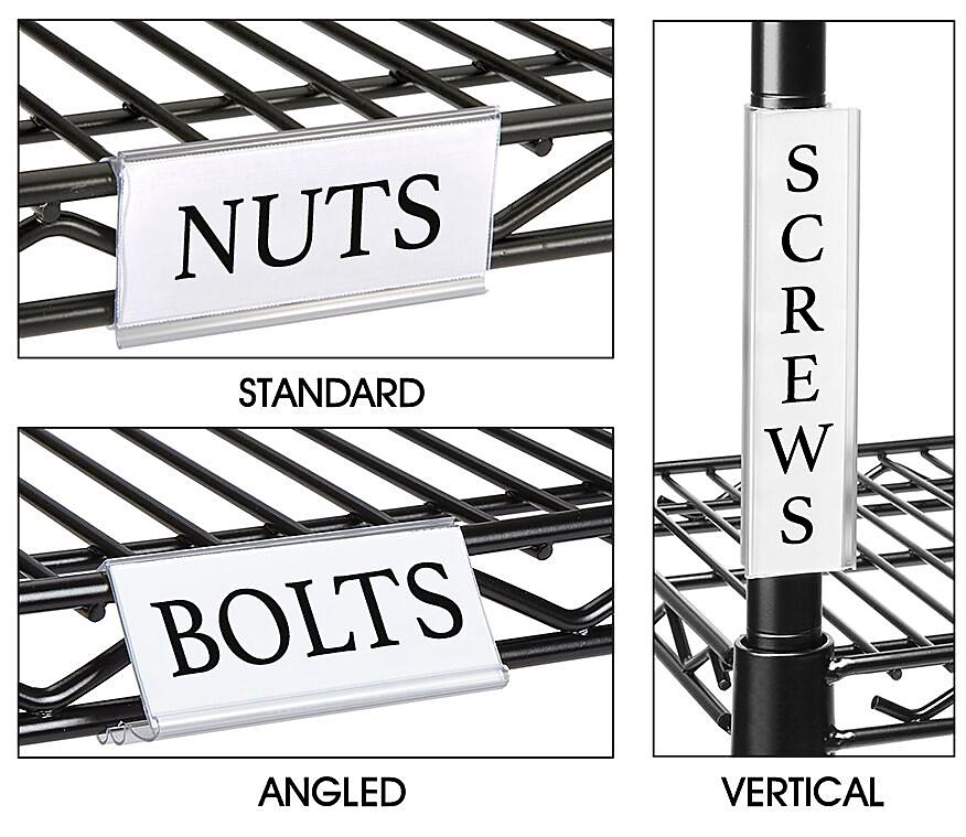 Wire Shelving Label Holders