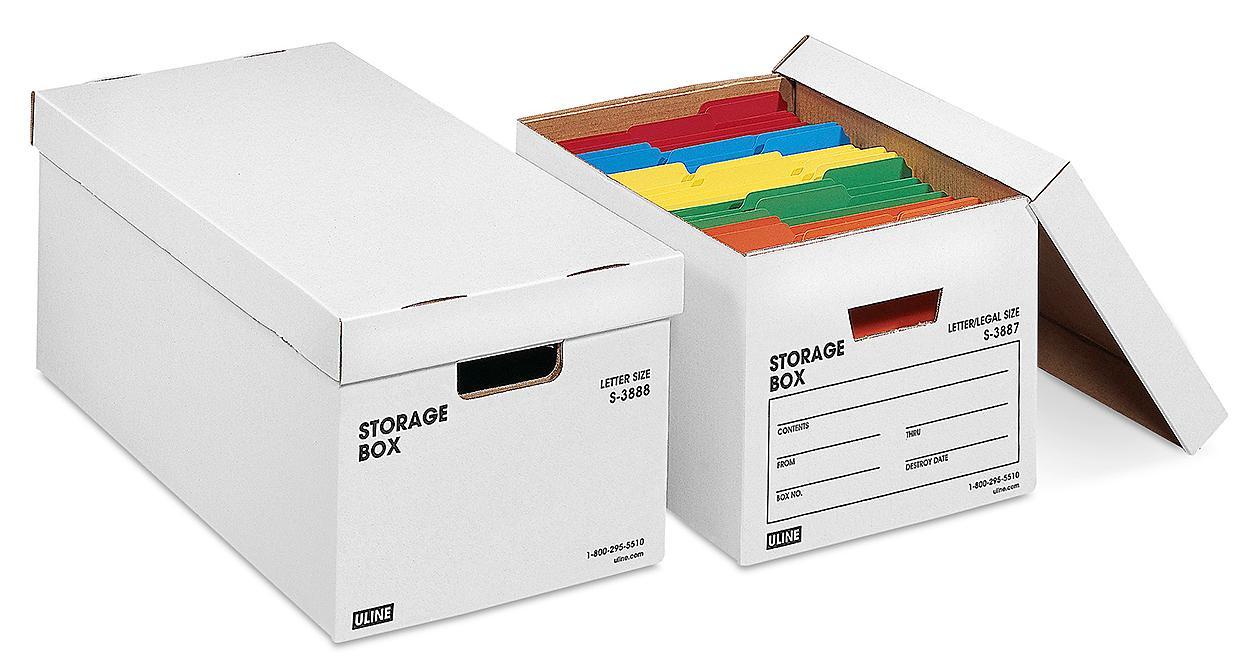 Uline Heavy Duty Storage File Boxes