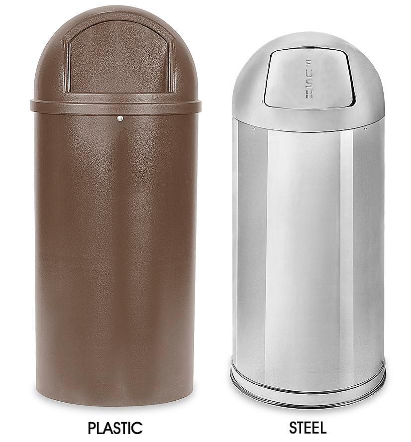 Domed Waste Trash Cans