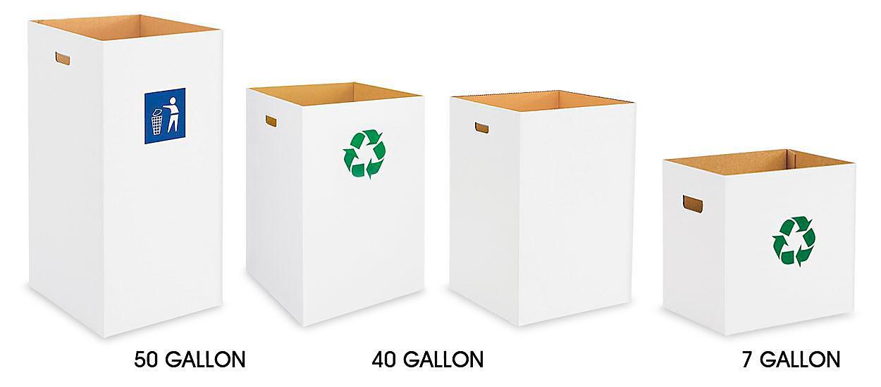 Corrugated Trash Cans
