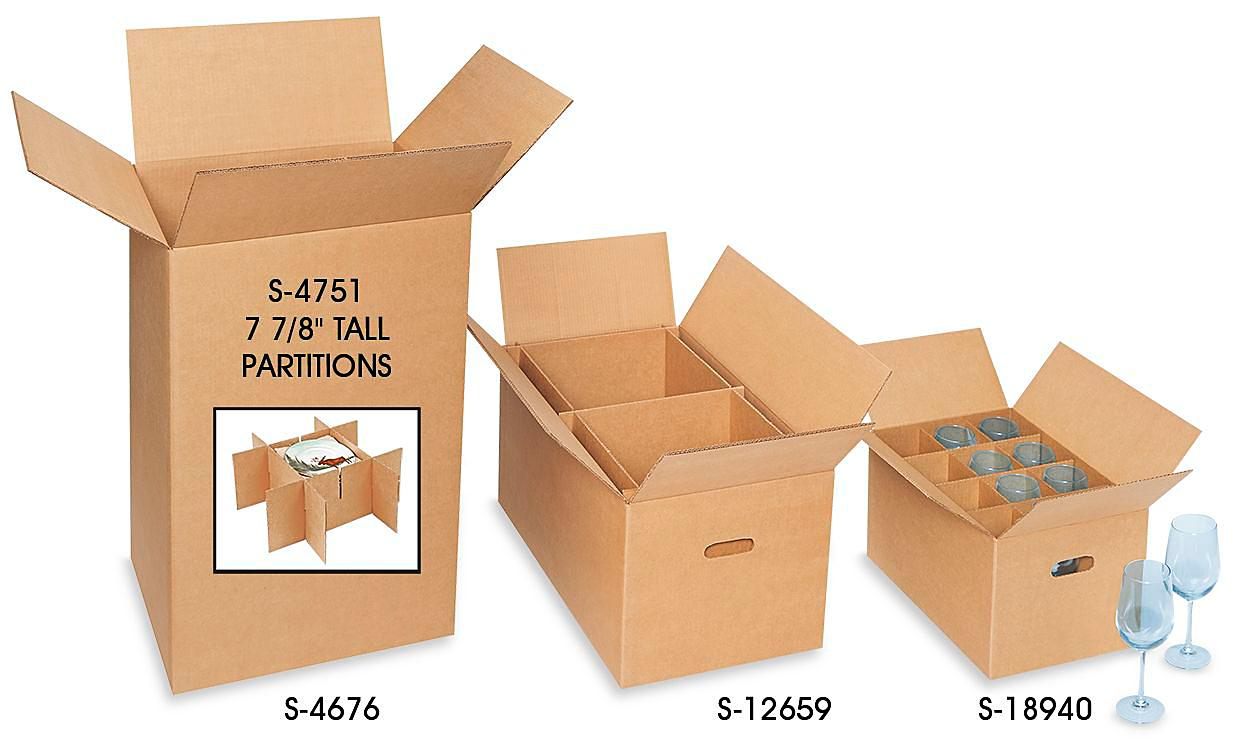 Dish and Glass Pack Boxes