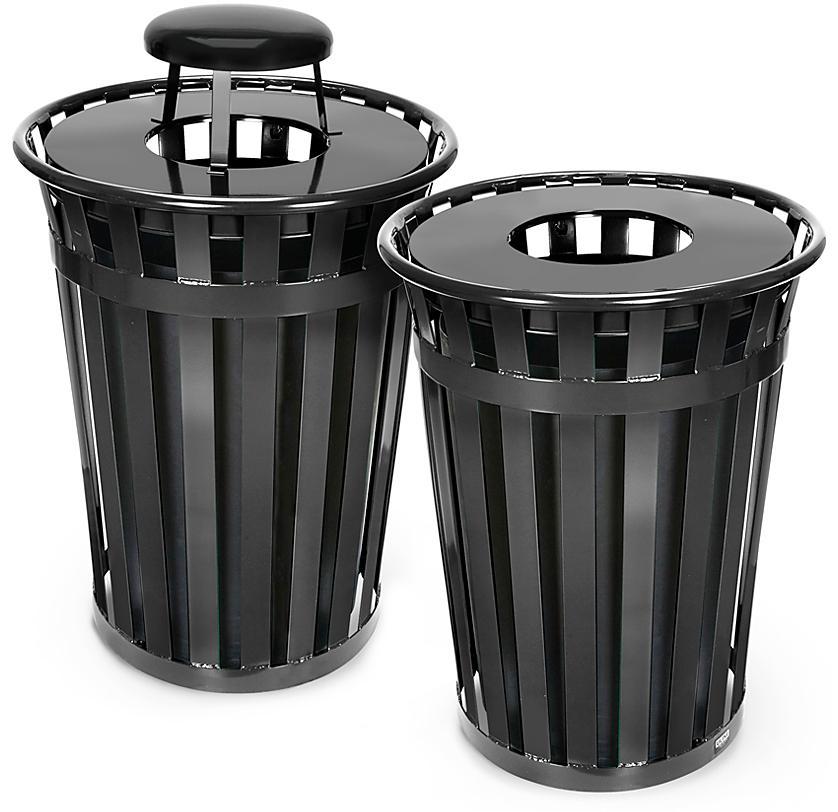 Courtyard Trash Cans