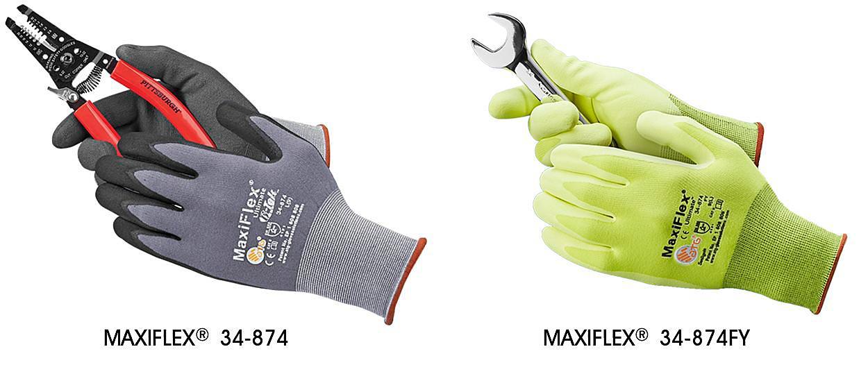 MaxiFlex<sup>&reg;</sup> 34-874 Micro-Foam Nitrile Coated Gloves