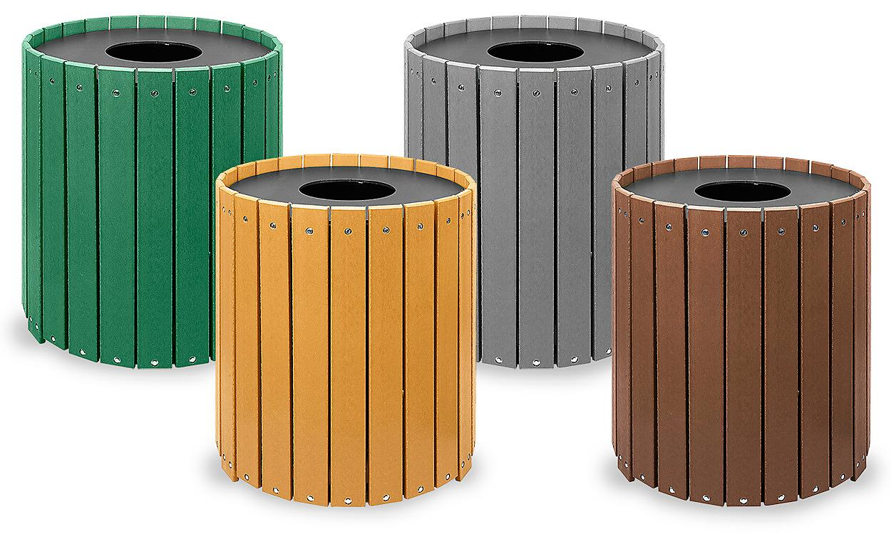 Recycled Plastic Trash Cans