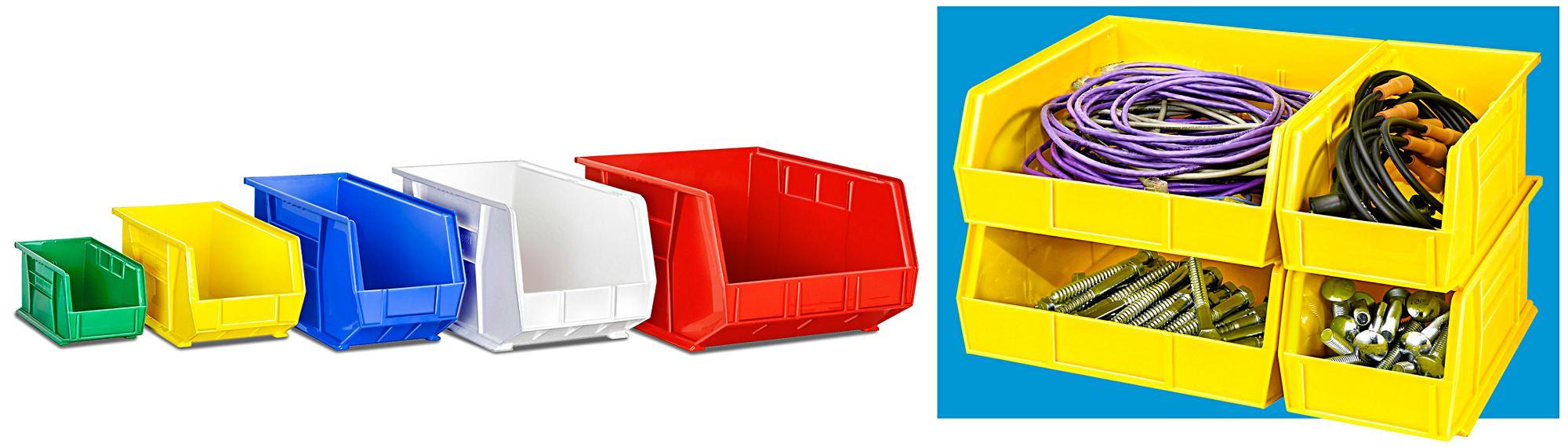 Uline Plastic Stackable Bins