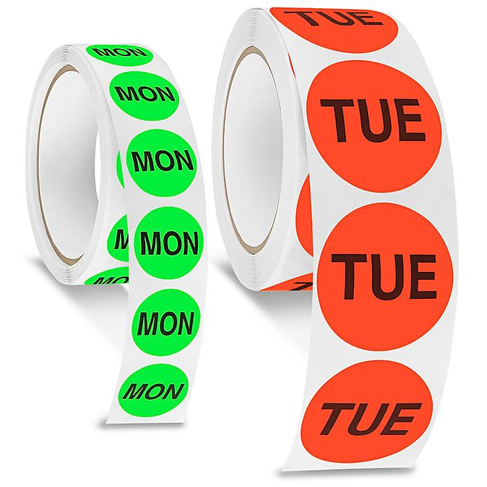 Days of the Week Inventory Labels