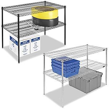 "Two-Shelf Wire Shelving Unit - 72 x 30 x 34"""
