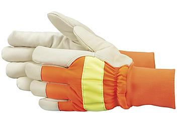 Dayglo Leather Gloves