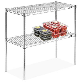 Two-Shelf Stainless Steel Wire Shelving
