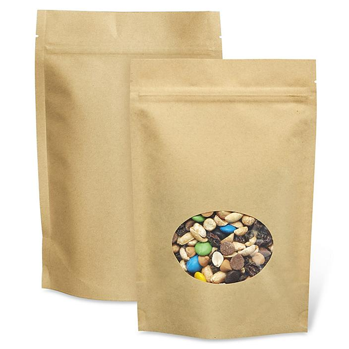 Kraft Stand-Up Barrier Pouches