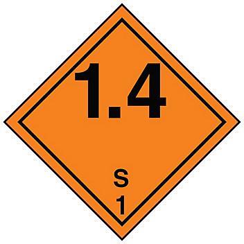 Hazard Class 1 International Labels
