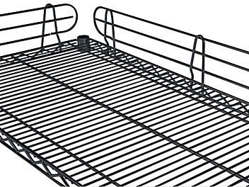 Wire Shelving Side and Back Ledges