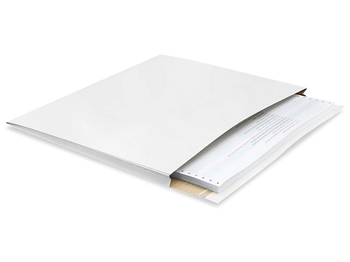 """White Self-Seal Gusseted Stayflats® - 17 x 14 x 1"""" S-10213"""