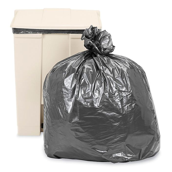 Uline Steel Tuff® Trash Liners - 1.5 Mil, 20-30 Gallon S-10227