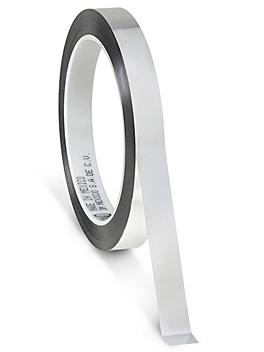 """3M 850 Polyester Film Tape - 1/2"""" x 72 yds, Silver S-10241SIL"""