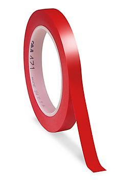 "3M 471 Vinyl Tape - 1/2"" x 36 yds, Red S-10251R"
